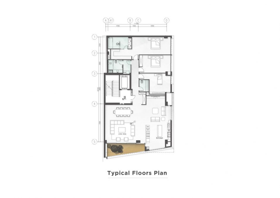 Architecture - cedrus - plan - building - yaser