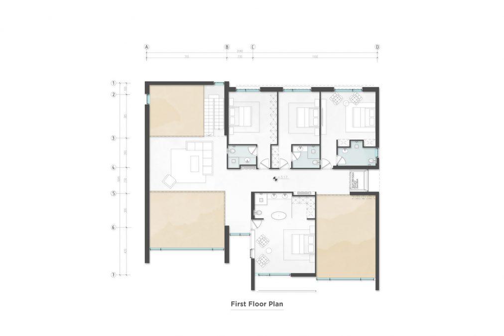 Architecture - cedrus - plan - building - Zibadasht