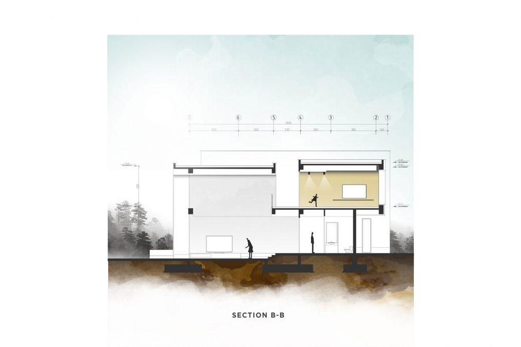 Architecture - cedrus - section - building - Zibadasht