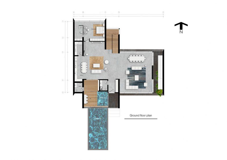 Architecture - cedrus - plan - villa